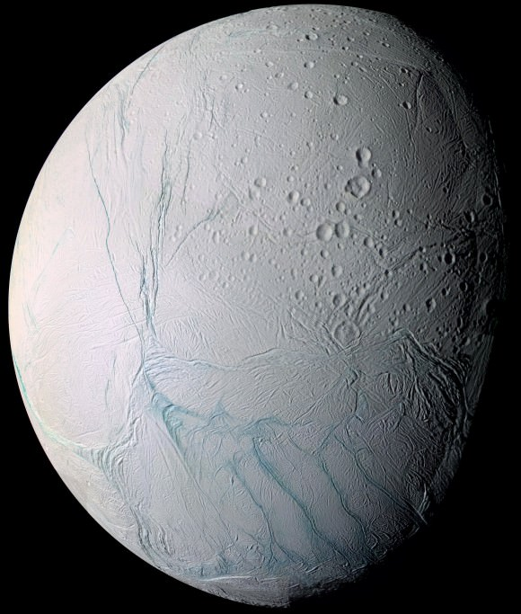Is there life on Saturn (or one of its moons, anyway)? Photo by NASA via the New York Times.