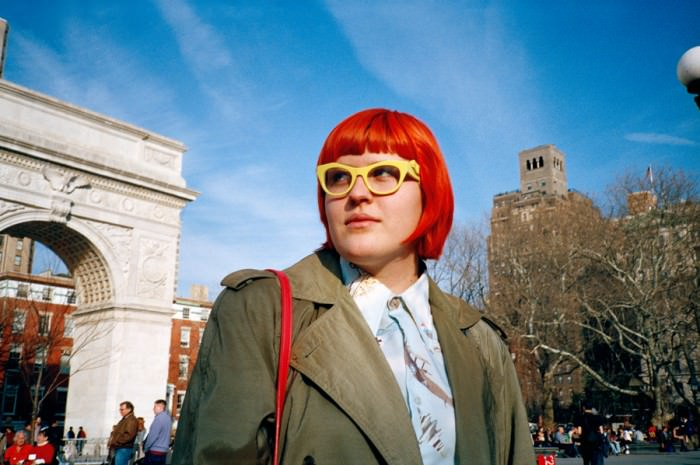 My girl Tayler on a miraculously warm day in Washington Square Park.