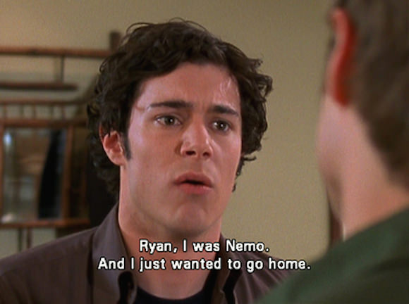 Seth Cohen, after his first time. Or me, after my first high school party. (Via Yellow Means Go Faster.)