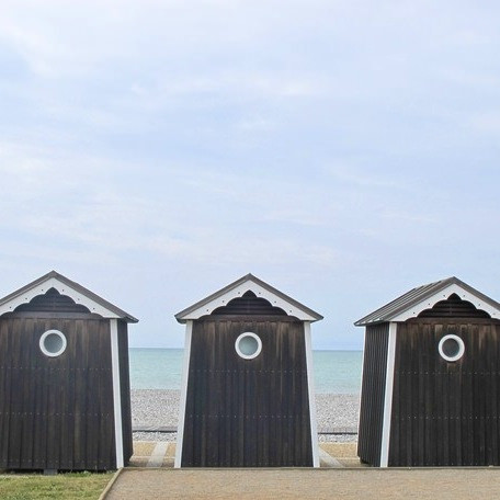Beach Cabins by Ann at Magalerie.