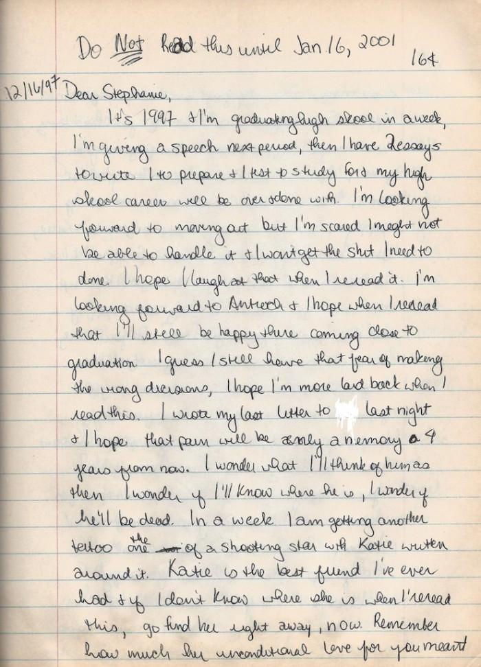 Stephanie-diary page 1