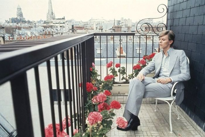 David Bowie in Paris, 1977, photographed by Christian Simonpietri/Sygma/Corbis; via the Guardian.
