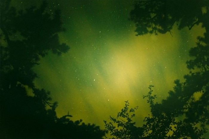 Night Sky (Green) (2009) by Ryan McGinley.