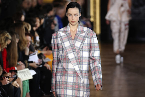 "A Stella McCartney ""Chinatown plaid"" jacket. Photo by the Associated Press via The Atlantic."