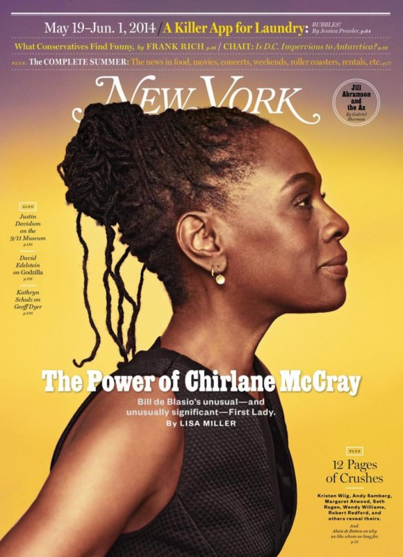 Chirlane covers New York Magazine. Photo by Ruven Afanador.