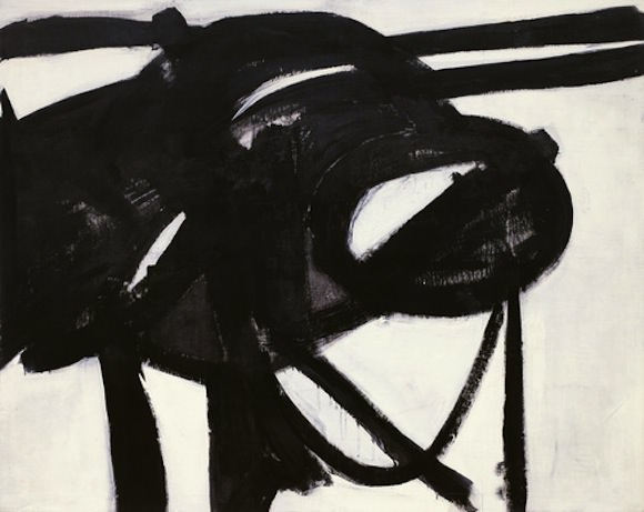 """Chief"" by Franz Kline, 1950. Image via The Museum of Modern Art."