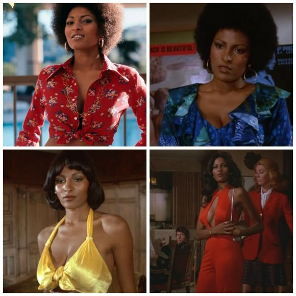 Stills of Pam Grier in the title role of Foxy Brown.