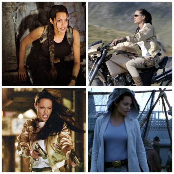 Angelina Jolie as Lara Croft.