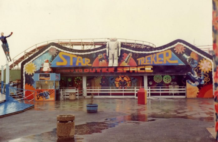Morecambe Pleasure Beach, 1980, photographed by Paul Angel, via Secret Fun Blog.