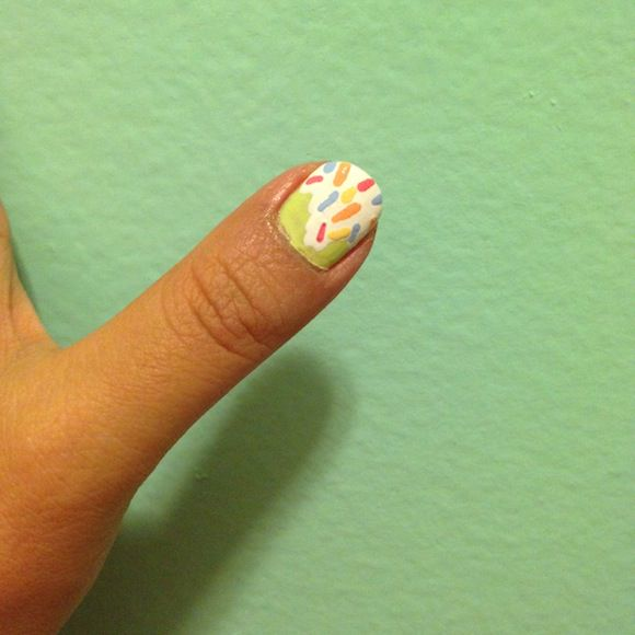 Ice Cream DIY Mani Step 3