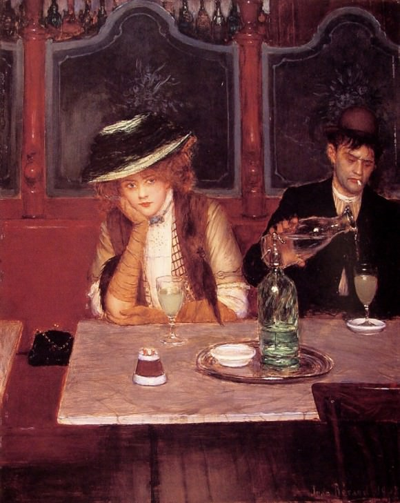 "Jean Beraud's ""The Drinkers,"" via The Toast."