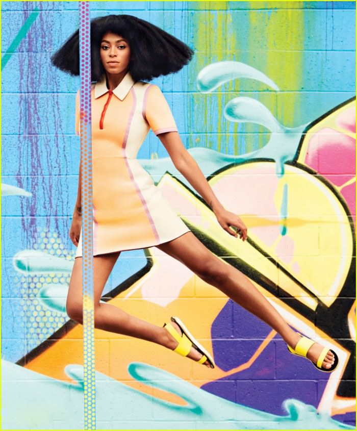 Solange photographed by Julia Noni for Harper's Bazaar, March 2014.