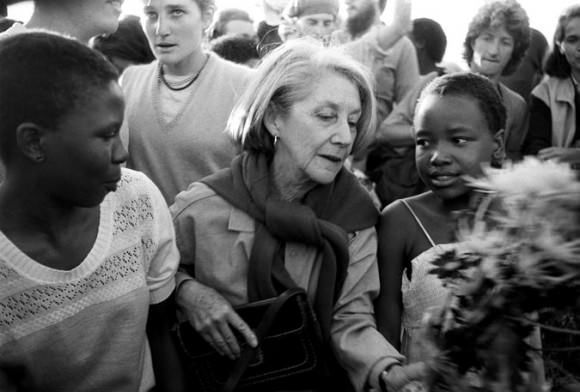Photo of Nadine Gordimer, center, by Reuters, via the New York Times.