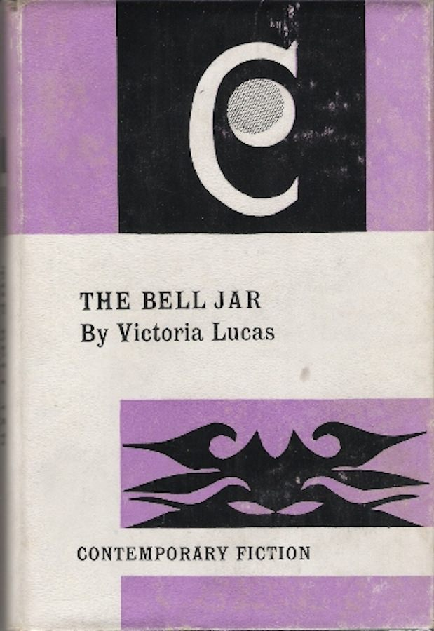 September 1964 UK Reader's Union cover of Sylvia Plath's The Bell Jar. Via Sylviaplath.info.