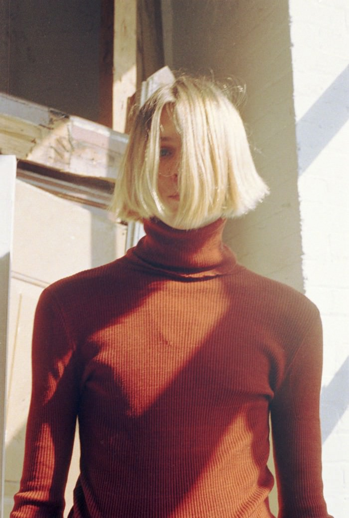Chris bought a new turtleneck just in time for too-hot-for-turtlenecks weather.