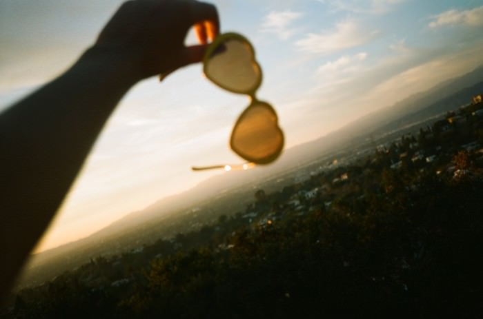 Hearts in my eyes watching the sun set one last time. ♥