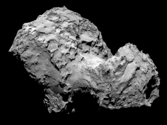 Photo of the comet by the European Space Agency via TIME.