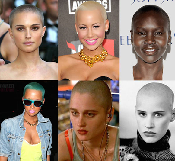 Clockwise from top left: Natalie Portman, Amber Rose, Alek Wek, Ève Salvail, Robin Tunney, Amber Rose.