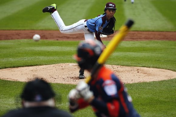 Mo'Ne Davis photographed by Gene J. Puskar/Associated Press via the New York Times.
