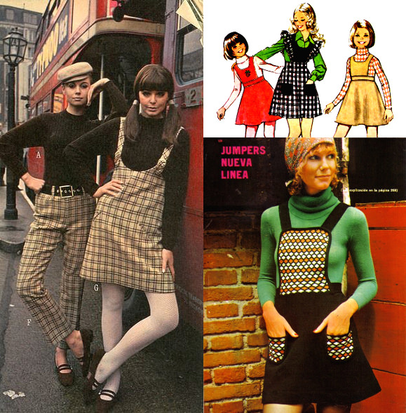 fd66b53f4f Got a long skirt you don't wear anymore? Don't give it away just yet. Why  not repurpose it instead—for example, into a '60s-style pinafore dress?