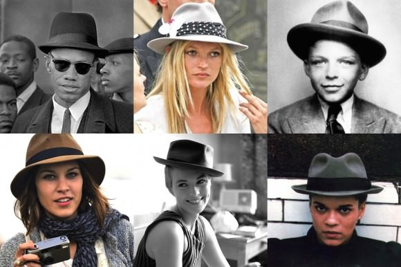 Top, left to right: Malcolm X, Kate Moss, baby Frank Sinatra. Bottom (L–R): Alexa Chung, Jean Seberg, Pauline Black.