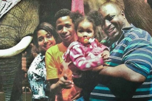 Photo of Eric Garner and family via IndieGoGo.