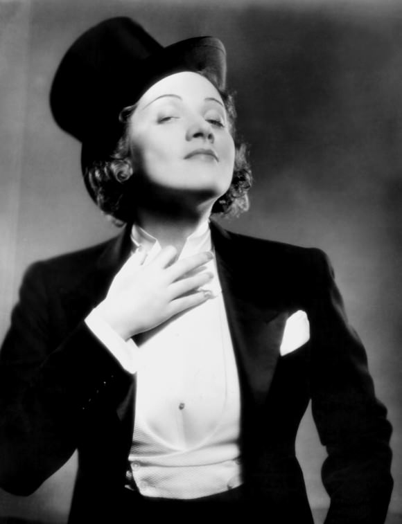 Marlene Dietrich, giving zero cares that anyone thinks women shouldn't wear tuxedos.