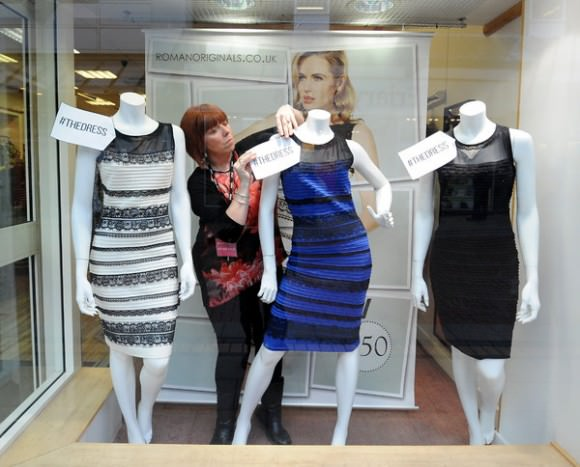 If you're in the area, pick up the #TheDress from Lichfield, England. Photo by Rui Vieira/Associated Press , via the New York Times.