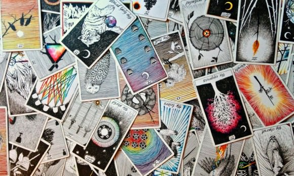 Photo by Beth Maiden of Tarot Cards by The Wild Unknown, via the Guardian.