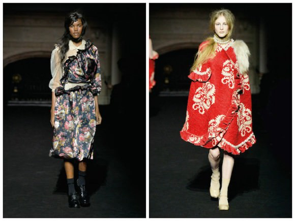 Two looks from Simone Rocha's Autumn/Winter 2015 collection, via BCurrent Magazine.