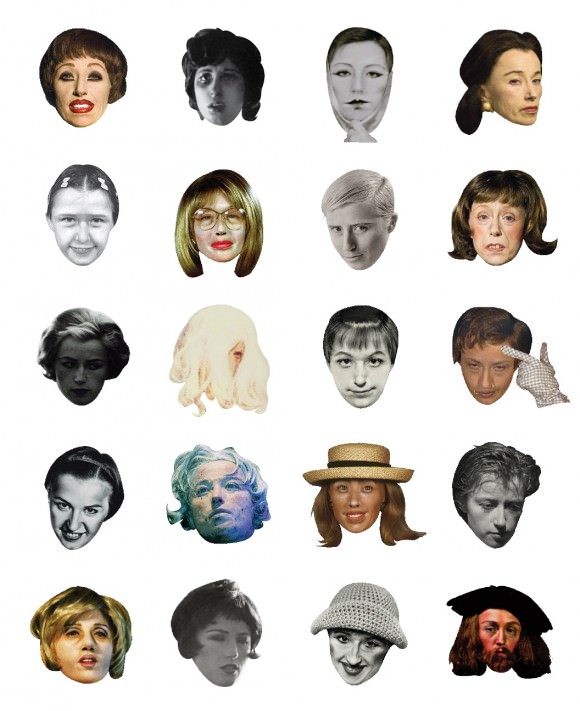 The full range of Hyo Hong's Cindy Sherman-icons, via Hyperallergic.