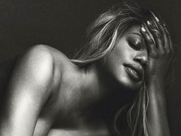 Cropped photo of Laverne Cox by Norman Jean Roy, via Playboy magazine.