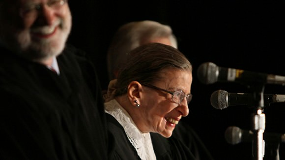 Photo of Ruth Bader Ginsburg by Charlie Neuman, via Mother Jones.