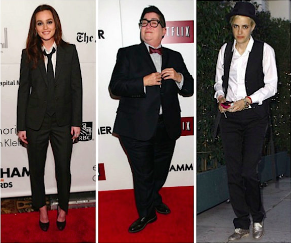 Left to right:  Leighton Meester, Lea DeLaria,  and Samantha Ronson.