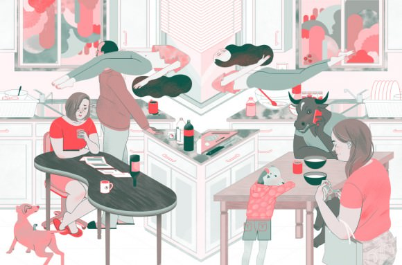 Illustration by Angie Wang for Cicada Magazine.