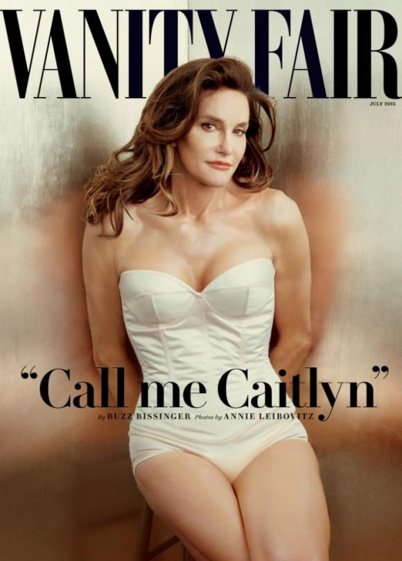 Caitlyn Jenner photographed by Annie Leibovitz for the cover of Vanity Fair.