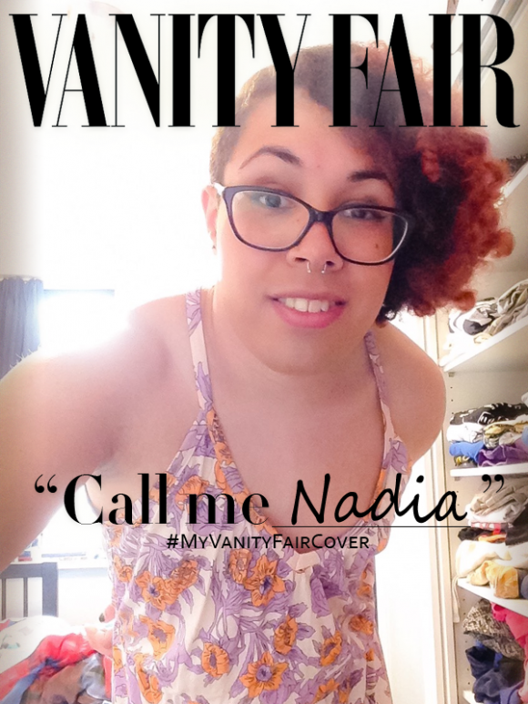 Photo of Nadia on her own Vanity Fair cover, via Tumblr.