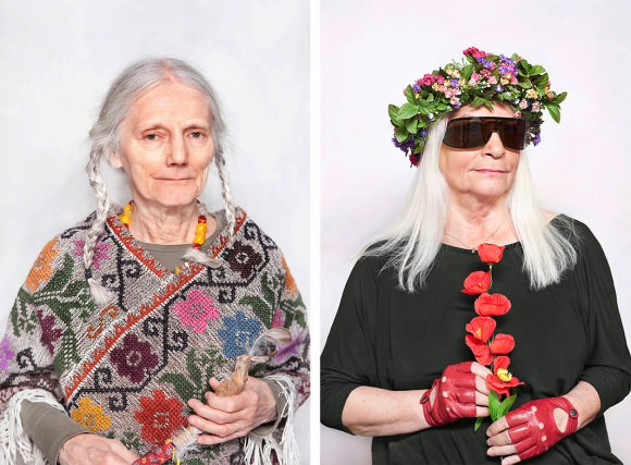 Left: Maria, a healer and a visionary. Right: Natalia LL, an artist. Photo portraits by Katarzyna Majak, via Slate magazine.