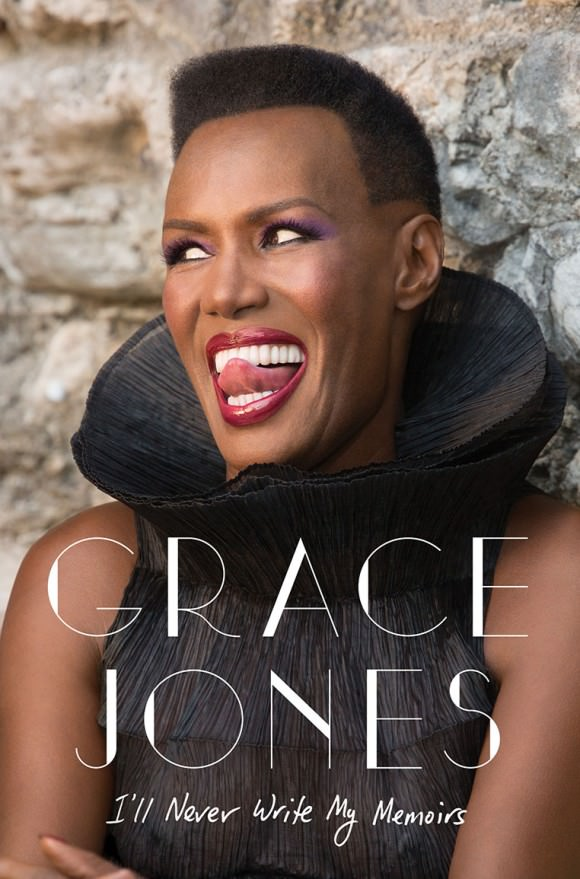 The cover of Grace Jones' forthcoming memoir courtesy of Simon and Schuster, via the Hollywood Reporter.