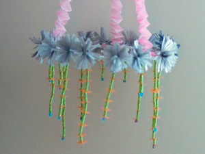 How to Make a Paper-Flower Chandelier