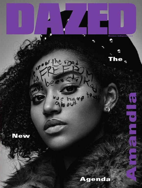 Amandla Stenberg shot by X for Dazed & Confused.