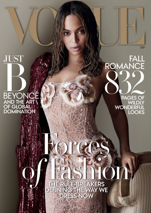 Cover of Vogue magazine's September issue, photo by Mario Testino.