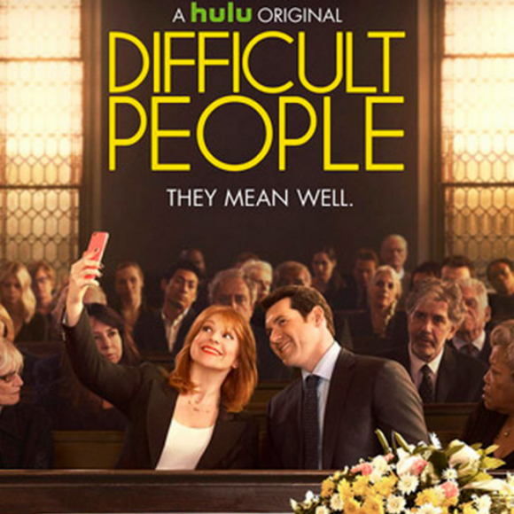 Poster for the Hulu show Difficult People, via the Root.