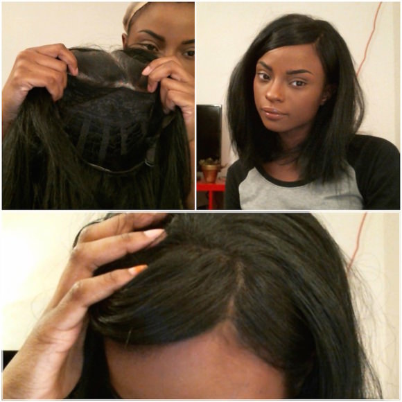 A lace-front wig.