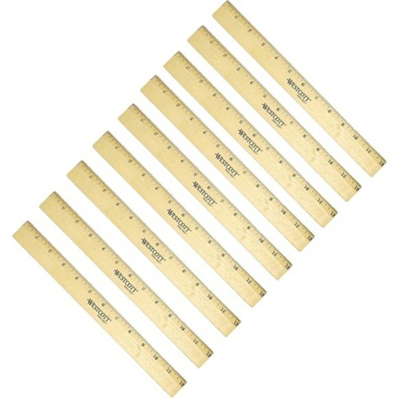Wescott wooden 12-inch ruler, $1.50, Staples.
