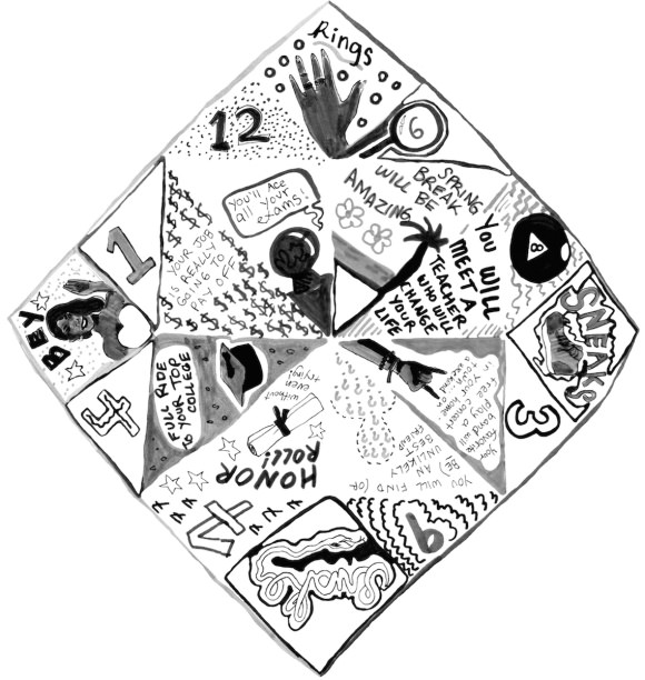 Lucy-Cootie Catcher-black and white