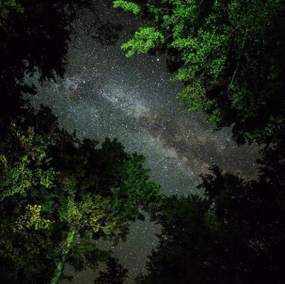 The Milky Way over West Virginia, from Nico's Instagram.