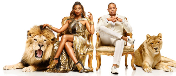 Taraji P. Henson as Cookie Lyon and Terrence Howard as Lucious Lyon.