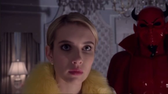 Emma Roberts as Chanel Oberlin (and, uh, the Red Devil).