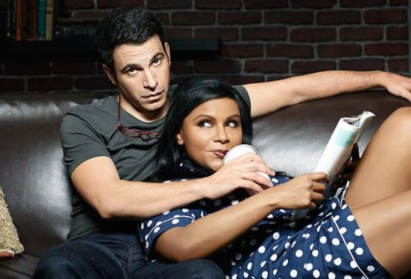 Chris Messina as Danny Castellano and Mindy Kaling as Mindy Lahiri.